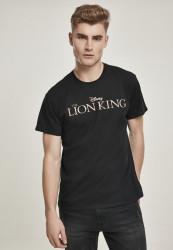 Pánske tričko MERCHCODE Lion King Logo Tee Farba: black,