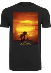 Pánske tričko MERCHCODE Lion King Sunset Tee Farba: black,
