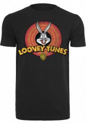 Pánske tričko MERCHCODE Looney Tunes Bugs Bunny Logo Tee Farba: black,
