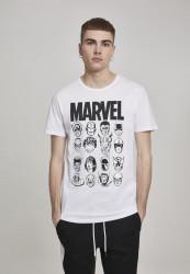 Pánske tričko MERCHCODE Marvel Crew Tee Farba: white,