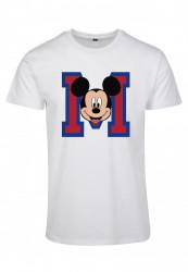 Pánske tričko MERCHCODE Mickey Mouse M Face Farba: white,