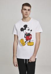 Pánske tričko MERCHCODE Mickey Mouse Tee biele Farba: white,