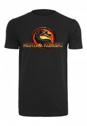 Pánske tričko MERCHCODE Mortal Kombat Logo Farba: black, Grösse: XXL