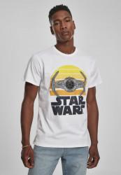 Pánske tričko MERCHCODE Star Wars Sunset Farba: white, Grösse: XXL