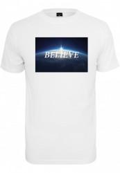 Pánske tričko MR.TEE Believe Tee Farba: white,