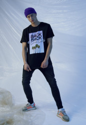 Pánske tričko MR.TEE Cali Cali Tee Farba: black,