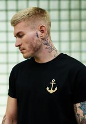 Pánske tričko MR.TEE Captain Tee Farba: black, Grösse: XS