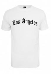 Pánske tričko MR.TEE Los Angeles Wording Tee Farba: white,