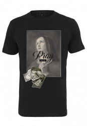 Pánske tričko MR.TEE Mister Tee Pray Dollar Tee Farba: black,
