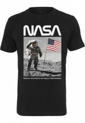 Pánske tričko MR.TEE NASA Moon Man Tee Farba: black,