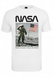 Pánske tričko MR.TEE NASA Moon Man Tee Farba: white,
