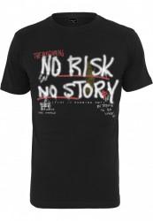 Pánske tričko MR.TEE No Risk No Story Tee Farba: black,
