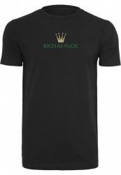 Pánske tričko MR.TEE Rich As Fuck Tee Farba: black,