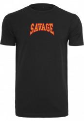 Pánske tričko MR.TEE Savage Tee čierne Farba: black,