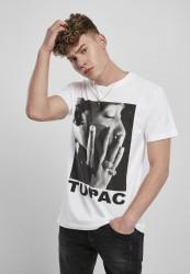 Pánske tričko MR.TEE Tupac Profile Tee Farba: white, Grösse: XXL