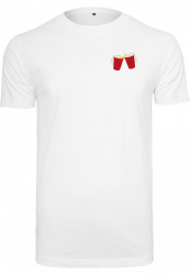Pánske tričko MR.TEE Wasted EMB Tee Farba: white,
