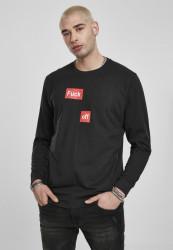 Pánske tričko s dlhým rukávom MR.TEE Fuck Off Split Longsleeve black Farba: black,