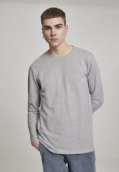 Pánske tričko s dlhým rukávom URBAN CLASSICS Stretch Terry Longsleeve grey