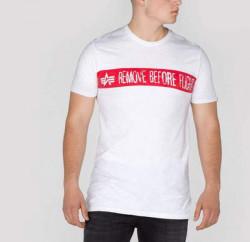 Pánske tričko s krátkym rukávom alpha industries RBF T-shirt White