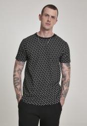 Pánske tričko URBAN CLASSICS Allover Logo Tee black