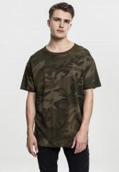Pánske tričko s krátkym rukávom URBAN CLASSICS Camo Oversized Tee olive camo