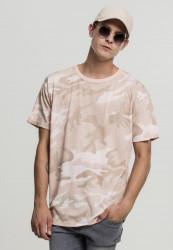 Pánske tričko s krátkym rukávom URBAN CLASSICS Camo Oversized Tee rose camo