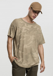 Pánske tričko s krátkym rukávom URBAN CLASSICS Camo Oversized Tee sand camo