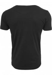 Pánske tričko s krátkym rukávom URBAN CLASSICS Contrast Pocket Tee blk/aztec #1