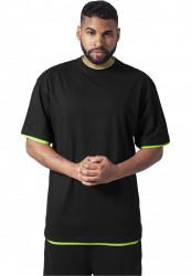Pánske tričko s krátkym rukávom URBAN CLASSICS Contrast Tall Tee blk/igr