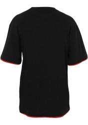 Pánske tričko s krátkym rukávom URBAN CLASSICS Contrast Tall Tee blk/red #5