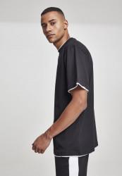 Pánske tričko s krátkym rukávom URBAN CLASSICS Contrast Tall Tee blk/wht #1