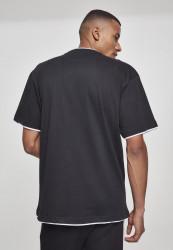 Pánske tričko s krátkym rukávom URBAN CLASSICS Contrast Tall Tee blk/wht #2