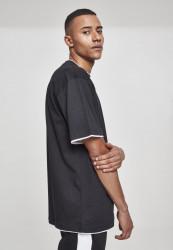 Pánske tričko s krátkym rukávom URBAN CLASSICS Contrast Tall Tee blk/wht #3