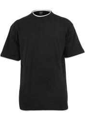 Pánske tričko s krátkym rukávom URBAN CLASSICS Contrast Tall Tee blk/wht #4