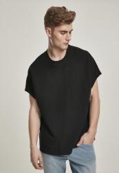 Pánske tričko s krátkym rukávom URBAN CLASSICS Cut On Sleeve Naps Interlock Tee black