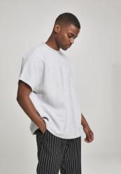 Pánske tričko s krátkym rukávom URBAN CLASSICS Cut On Sleeve Naps Interlock Tee lightgrey