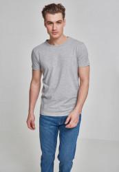 Pánske tričko s krátkym rukávom URBAN CLASSICS Fitted Stretch Tee šedé