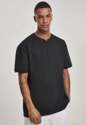 Pánske tričko s krátkym rukávom URBAN CLASSICS Garment Dye Oversize Pique Tee black Farba: Čierna,