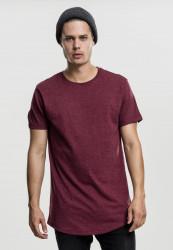 Pánske tričko s krátkym rukávom URBAN CLASSICS Lace Up Long Tee cherry