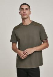 Pánske tričko s krátkym rukávom URBAN CLASSICS Military Tee olive Farba: olivová,