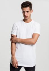 Pánske tričko s krátkym rukávom URBAN CLASSICS Peached Shaped Long Tee biele