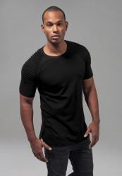 Pánske tričko s krátkym rukávom URBAN CLASSICS Pleat Raglan Tee čierne