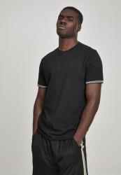 Pánske tričko s krátkym rukávom URBAN CLASSICS Rib Ringer Tee black/multicolour