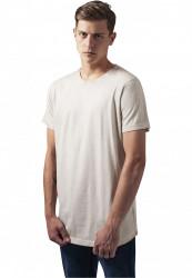 Pánske tričko s krátkym rukávom URBAN CLASSICS Shaped Long Cold Dye Tee sand