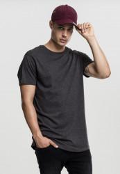 Pánske tričko s krátkym rukávom URBAN CLASSICS Shaped Melange Long Tee charcoal