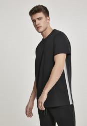 Pánske tričko s krátkym rukávom URBAN CLASSICS Side Taped Tee black/grey