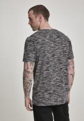 Pánske tričko s krátkym rukávom URBAN CLASSICS Striped Melange Tee blk/gry #2