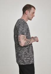 Pánske tričko s krátkym rukávom URBAN CLASSICS Striped Melange Tee blk/gry #3