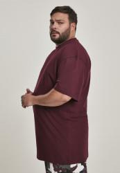 Pánske tričko s krátkym rukávom URBAN CLASSICS Tall Tee redwine #1