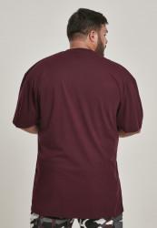 Pánske tričko s krátkym rukávom URBAN CLASSICS Tall Tee redwine #2